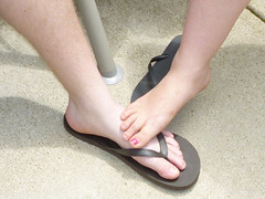 His and Hers!!! (steamboatwillie33) Tags: family summer feet yard toes legs flip his flops friday hers 2012