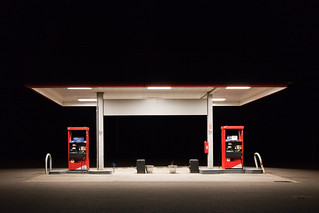Darkness at the Edge of Town, Gas Station in Maple Falls, Washington