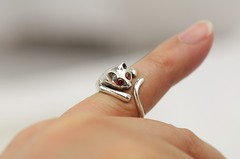 Sterling Silver Cat Ring (LennonLipeng) Tags: red ring catring silvercatring sterlingsilvercatring