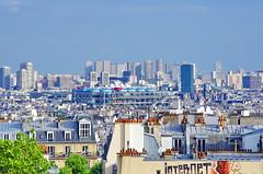 Paris vu de Montmartre 7 Beaubourg, la tour de Jussieu et les tours du XIIIime arrondissement (paspog) Tags: paris france montmartre roofs toits decken toitsdeparis