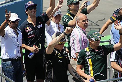 Kimi Raikkonen in the Drivers' Parade before the 2012 European Grand Prix in Valencia