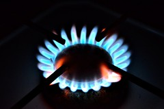 blue red cooking dark fire gas flame