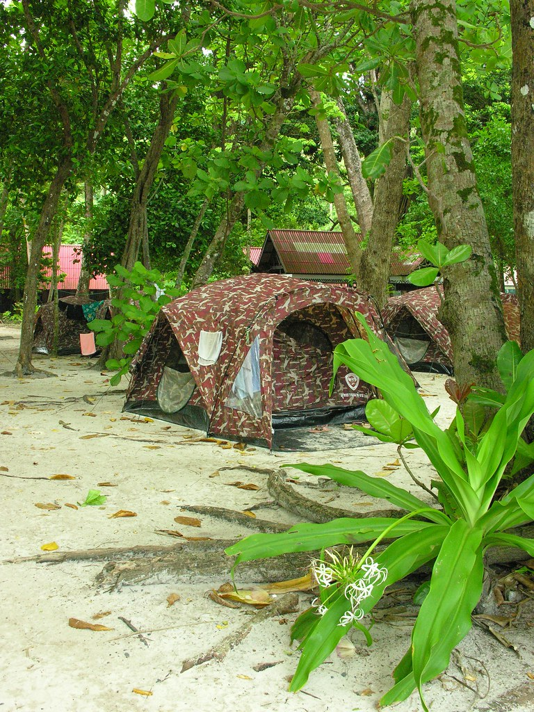 Camping ground on the Similan Islands, Southern Thailand
