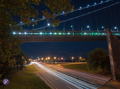 Belt Parkway Light Trails (Blue_gsx) Tags: new york city light brooklyn night long exposure trail