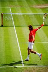 Roger Federer v Julien Benneteau - Backhand winner (zawtowers) Tags: france london court point switzerland julien hand shot centre side games tennis round winner second match olympic roger olympics left legend wimbledon federer 2012 backhand london2012 benneteau
