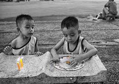 Can you save some for me ? Streetside birthday party, Saigon, Vietnam (Marty Windle -Travel Photographer) Tags: birthday street people white black happy photography roadside vientam