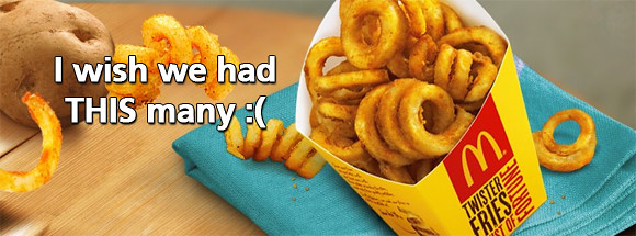 McDo Twister Fries - I wish we had tihs many