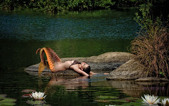 Sí. Era una Sirena (Isidr☼ Cea) Tags: rio river mermaid sirena pontemaceira valdamahia wwwisidroceacom