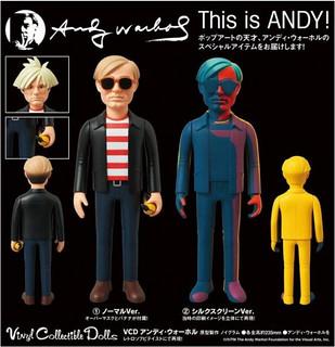 MEDICOM TOY VCD系列 Andy Warhol 安迪‧沃荷
