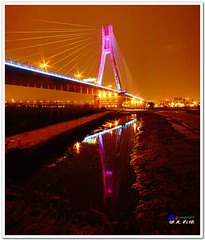 SDIM9281 ( or Jeff) Tags: ocean voyage bridge blue sunset sea sky art nature water colors night clouds buildings real coast twilight place shot dusk taiwan sigma explore  taipei  1020mm discovery   seeking scenes    nightfall afterglow merrill  foveon landscap   x3      glimmering  18200mm sd1