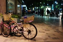 2155/1809 (june1777) Tags: street light 3 bicycle night 35mm bokeh sony cosina voigtlander snap seoul 3200 nokton f12 nex angukdong nex3
