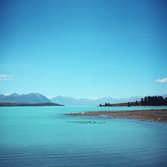 (*YIP*) Tags: newzealand lake 120 6x6 film mediumformat square outdoors photography day kodak turquoise religion nopeople snowcapped southisland laketekapo epson coastline remote kiev slanted distant kiev60 yip iso160 colorimage v500 mountainpeak mackenziedistrict coastalfeature yipchoonhong canterburyregion