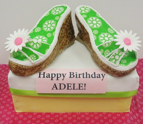 [Image from Flickr]:Summer Sandal Birthday Cake