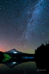 Accidental Light Painting (erika eve) Tags: longexposure trees mountain reflection water stars nikon forrest andromeda mthood nightsky trilliumlake d4 snowcappedmountain erikaplummerphotography wwwphotographyatplaycom