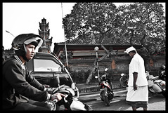 """Two Destinations"" by Hisham Abdullah (hisham_abdullah) Tags: street portrait bali temple photography hisham abdullah"