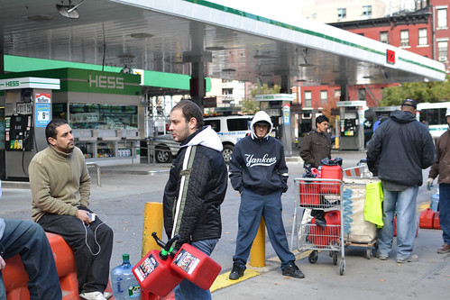 Manhattan Gas Line After Hurricane Sandy