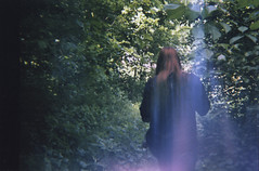 Into the wild (jadeskye) Tags: film girl 35mm woods toycam