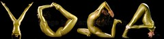 YOGA  title, Yoga Master Pretzel (Vern Krutein) Tags: yoga body letters shapes title