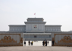 KUMSUSAN MEMORIAL PALACE A PYONGYANG, COREE DU NORD (Eric Lafforgue Photography) Tags: people color colour building horizontal architecture person asia authority capital fulllength palace korea structure communism mausoleum palais asie capitale coree personne couleur humanbeing communisme northkorea batiment pyongyang edifice dprk mausolee colorpicture enpied democraticpeoplesrepublicofkorea kumsusanmemorialpalace etrehumain cadrageenpied coreedunord rpdc autorite republiquepopulairedemocratiquedecoree