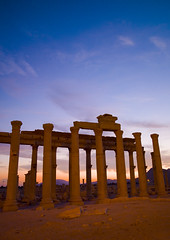 The Ancient Roman city of Palmyra, Syria (Eric Lafforgue Photography) Tags: sunset color colour monument vertical architecture outdoors photography ancient day roman middleeast unescoworldheritagesite unesco syria column ancientcivilization palmyra thepast palmira aleppo traditionalculture levant tadmor traveldestinations colorimage famousplace oldruin unescoworldheritagelist internationallandmark mediterraneanculture builtstructure syrianculture westernasia architectureandart middleeasternculture