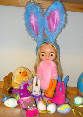 Mondie and her Easter buddies wish everyone a Happy Easter!  <3