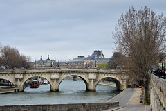 Paris5 (maryquylla1) Tags: bridge winter paris france boats puentes invierno paysage francia iledefrance bateauxmouche
