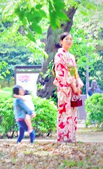 Kimono girl,Tokyo Ueno park (sapphire_rouge) Tags: woman girl beauty japan lady skinny japanese tokyo ueno  tall   younglady