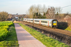 NMBS AM 444  Hoeselt (Tren di Cdrico) Tags: train alstom trein neus bombardier nmbs deens treinstel sncb l35 am96 hoeselt