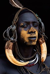 Ethiopia. Mursi warrior, Omo Valley // by   Patrick de WILDE (mike catalonian) Tags: africa portrait color male face photography omovalley ethiopia mursi easternregion patrickdewilde