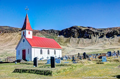 Reyniskirkja church (anniew69) Tags: building graveyard photography iceland nikon day3 hdr highdynamicrange apr hdri edifice edifices 2016 travelphotography photomatix photographytechnique d7000 reynisfjarabeach anniewilcox wwwanniewilcoxcouk anniew69 reyniskirkjachurch reynischurch