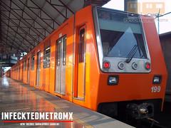 Alsthom MP-68/C,N,C,F NM-73B R-96-98 M-004/199 Plaza Aragon L-B (infecktedmetromx) Tags: subway mexico df metro stc alstom lb ciudaddemexico estadodemxico alsthom ecatepec cimt cdmx cncf concarril stcmetro mp68 nm73 nm73b brissoneauetlotz r9698