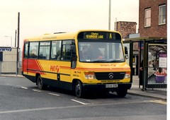 57 23 Oct 97 Newcastle under Lyme. PMT MMM244 MB O814D Beaver 2 on local route A Photo by Clive (clived3) Tags: by clive