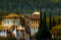 castle ... on the water (mariola aga) Tags: lake reflection castle water upsidedown surface serene ripples tranquil thegalaxy