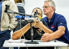 Air rifle shooting with disabled vets (rikki480) Tags: camera hot sport gun shoot air rifle indiana safety disabled laser shooting shooter safe placement range trainer veterans fortwayne disabilities vets impaired turnstone pellet anschutz scatt xcount