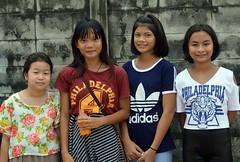 friends (the foreign photographer - ) Tags: ladies girls friends portraits thailand four nikon bangkok young lard bang bua preteen khlong bangkhen d3200 phrao