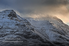 Liathach Awakening (Shuggie!!) Tags: winter snow mountains clouds sunrise landscape scotland highlands rocks williams karl hdr torridon westerross zenfolio karlwilliams