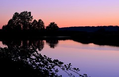 Sunset (careth@2012) Tags: sunset reflection field silhouette rural reflections landscape dawn nikon scenery view britishcolumbia scenic scene 55300mm nikond3300 d3300