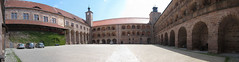 Castle courtyard panorama (quinet) Tags: castle germany schloss chteau 2012 castleroad burgenstrase