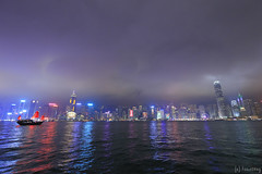 Victoria Harbour at night (tomosang R32m) Tags: light night hongkong illumination promenade  kowloon   tsimshatsui victoriaharbour symphonyoflights yakei
