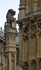 Parliament Lion (pjpink) Tags: uk england london architecture spring britain may housesofparliament parliament government ornate neogothic palaceofwestminster 2016 pjpink
