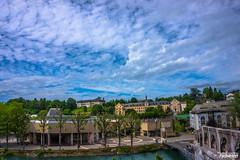 DSC02526 (Diana Creationz) Tags: france church clouds buildings river landscape travels catholic lourdes