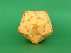 ? (masha_losk) Tags: paper origami squares symmetry foliage folded paperfolding modularorigami kusudama unitorigami