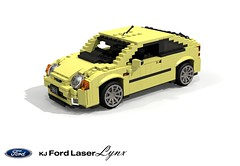 Ford KJ Laser Lynx Hatch (lego911) Tags: ford laser lynx 1994 kj hatch hatchback 3dr 3door mazda 323c familia neo 1990s japan motor company auto car moc model miniland lego lego911 ldd render cad povray lugnuts challenge 104 thescienceofitall science light constellation foitsop