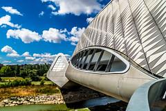 Pabelln puente 3 (.MiguelPU) Tags: sky espaa cloud color colour water rio azul spain agua nikon colours expo colores zaragoza cielo nubes ebro 2008 aire libre saragosa d5200