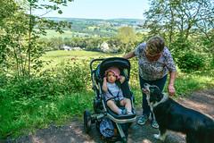 Along the Derwent Walk Railway Path (Nikki & Tom) Tags: uk grandma liz dogs girl toddler child sophie harris tynewear
