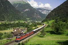 SBB Re 4/4II 11164 + Re 4/4II VSOE (Venice Simpoln Orient Express) Ertsfled 24/06/2016 (stefano.trionfini) Tags: train suisse zug sbb svizzera bahn orientexpress uri treni gotthard gottardo vsoe