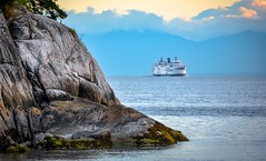 Steer clear (Images by Christie  Happy Clicks for 2016!) Tags: ocean sea seascape rock vancouver boulder horseshoebay bluehour bcferries saltwater whytecliffpark westvancouver bcferry metrovancouver horseshoebayterminal