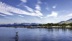 Peterburg, AK (punahou77) Tags: city blue sky mountain snow seascape water alaska ferry clouds landscape town dock petersburg pines buoy alaskamarinehighway stevejordan punahou77