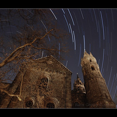 A Tree, a Cathedral and Eternity (hgviola ) Tags: tree church night germany stars deutschland nikon cathedral nacht dom kathedrale catedral wideangle medieval tokina dome alemania duomo worms romanesque eternity nuit conrad allemagne arbre baum notte eglise malam bintang startrails etoiles sterne rheinlandpfalz weitwinkel jerman mittelalter pohon kaiserdom romanisch rhinelandpalatinate imperialcathedral d80 ewigkeit sternspuren 1116mm kereja starstax hgviola kaiserconrad