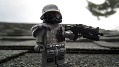 Apocagerman (The Brick Guy) Tags: outside lego german gasmask custom printed minifigure brickarms amazingarmory